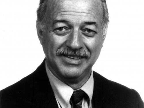 B&W portrait of Robert Adams