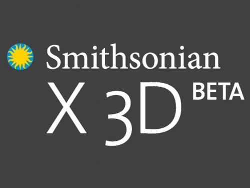 Smithsonian X 3D logo