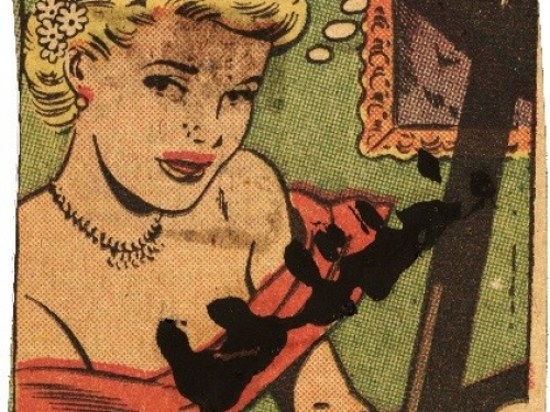 Comic book clipping