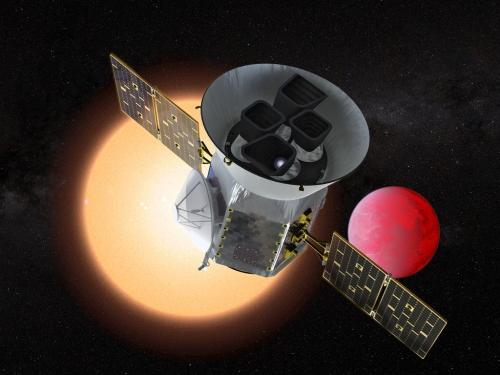 Illustration of the Transiting Exoplanet Survey Telescope