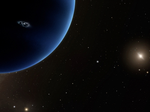 Cropped rendering of Planet Nine