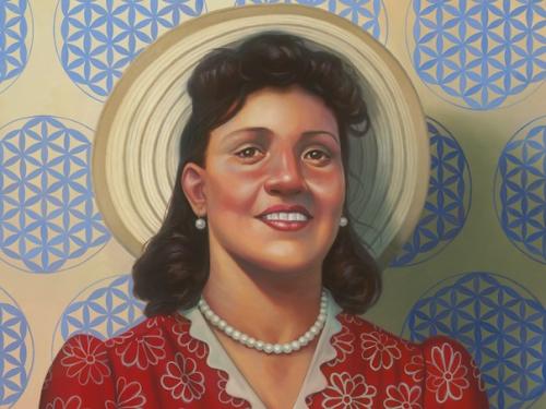 Cropped portrait of Henriette Lacks