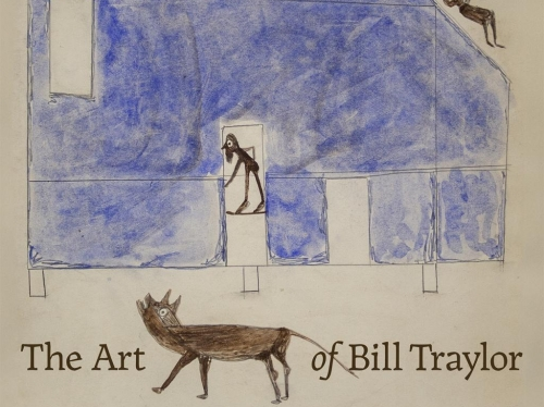 Book cover featuring Traylor painting of blue house