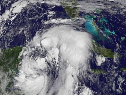 weather photo of tropical storm Philippe