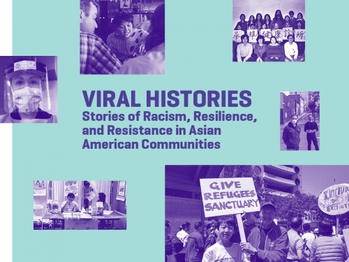 Graphic logo for Viral Histories program