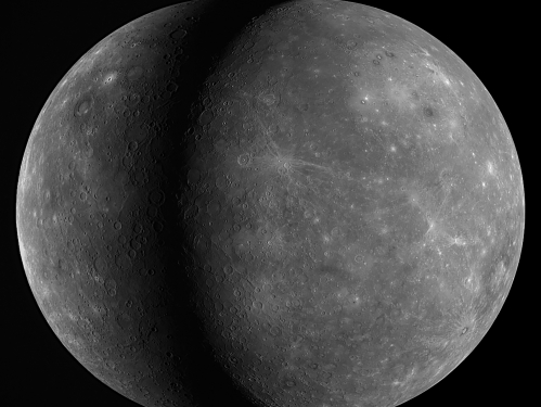 Overlapping images of the planet Mercury