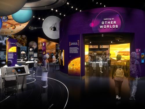 Rendering of museum exhibit