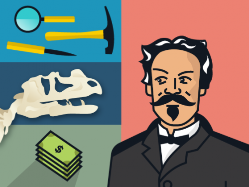illustration of rival scientists