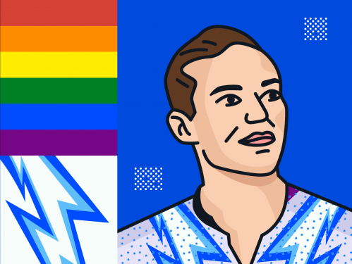 Adam Rippon illustration.