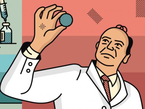 illustration of scientist