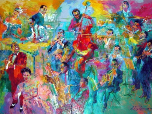 "LeRoy Neiman's ""Big Band"""