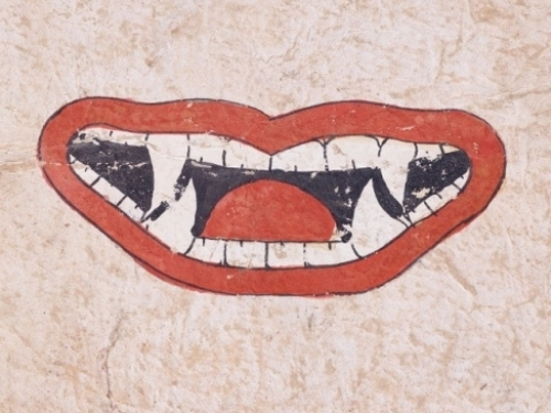 image showing mouth with vampire teeth