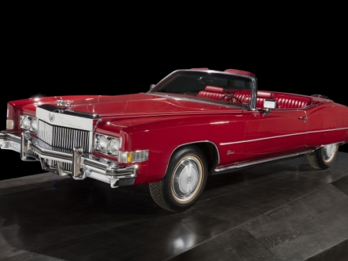 Chuck Berry's red Cadillac on display