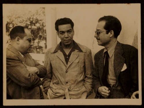old snapshot of Cantinflas with colleagues