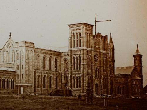 Smithsonian Castle under construction, 1850