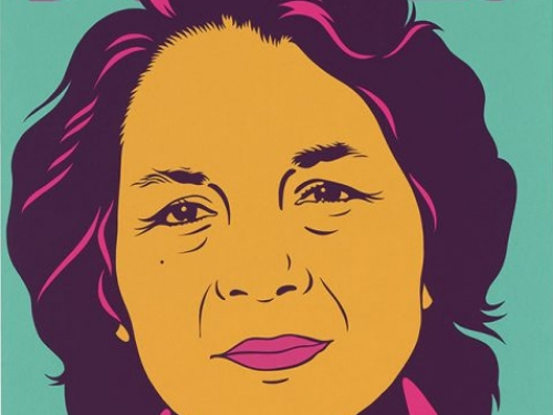Dolores Huerta by Barbara Carrasco. Silkscreen 1999. National Portrait Gallery,