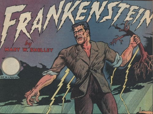 Frankenstein comic book cover.