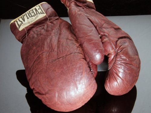 Joe Louis' Boxing Gloves, 1936