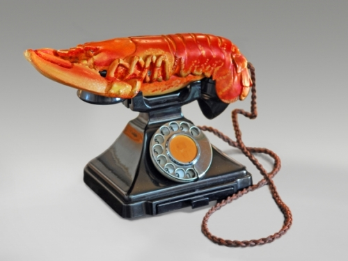 phone with a lobster