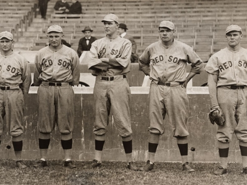 Babe Ruth and other Red Sox Pitchers, 1915