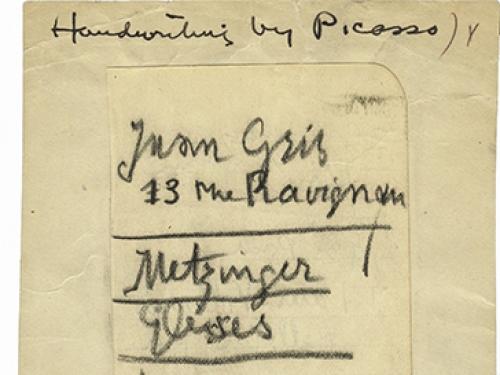 Pablo Picasso's List, 1912