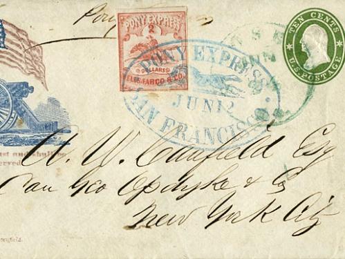 Pony Express Mail, 1861