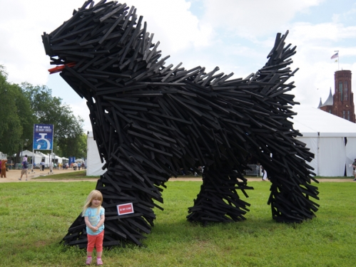 Puli dog sculpture