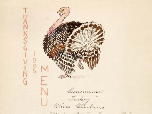 Thanksgiving Menu, 1905