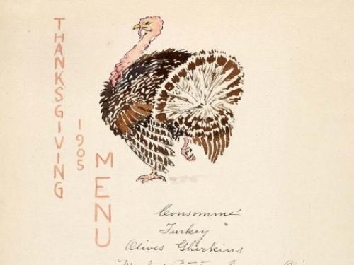 Thanksgiving Menu, 1905