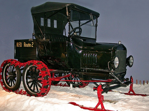 Ford Model T with Snow Attachment, 1921