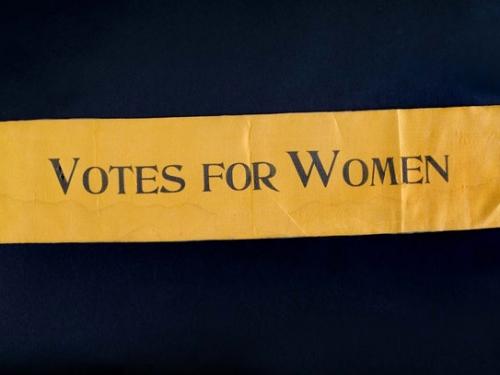 Suffrage Sash, c. 1910