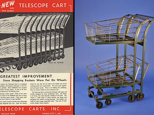 Telescoping Shopping Cart, c. 1949