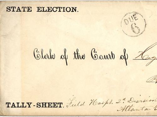 absentee ballot envelope cover.