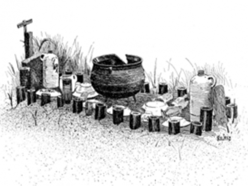 illustration of grave.