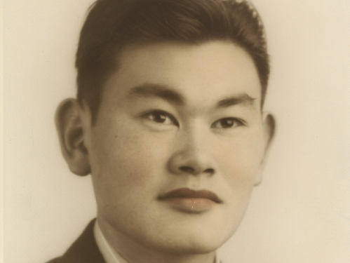 photograph of Korematsu in a suit