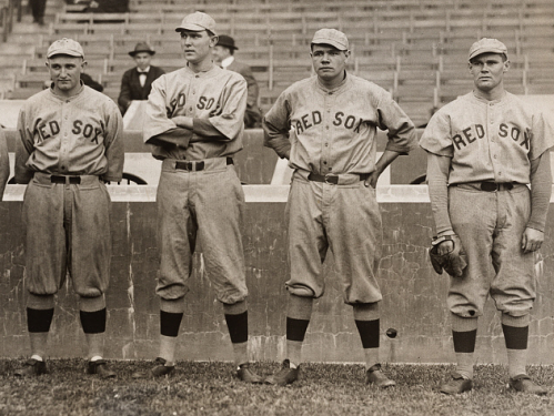 Babe Ruth and other Red Sox pitchers