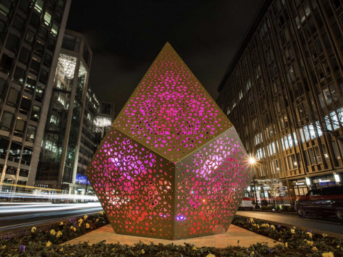 perforated steel sculpture