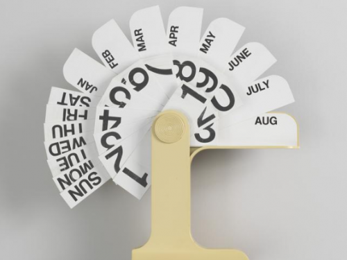 calendar with plastic tabs