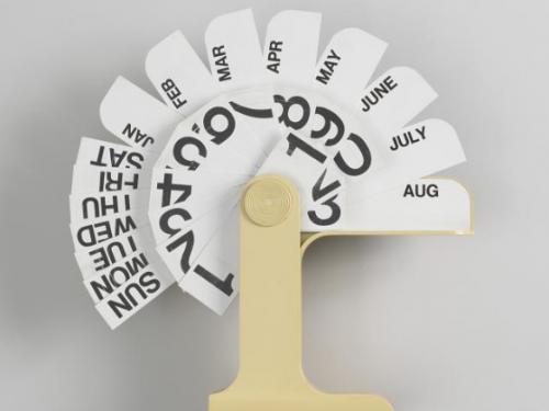 calendar with plastic tabs