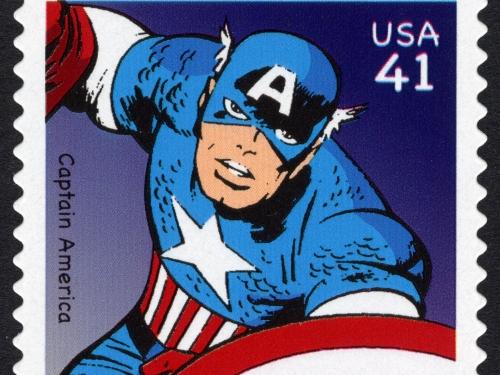 Captain America 41 cent stamp