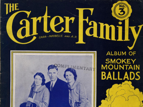 Carter Family sheet music.