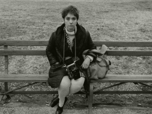 Diane Arbus on park bench