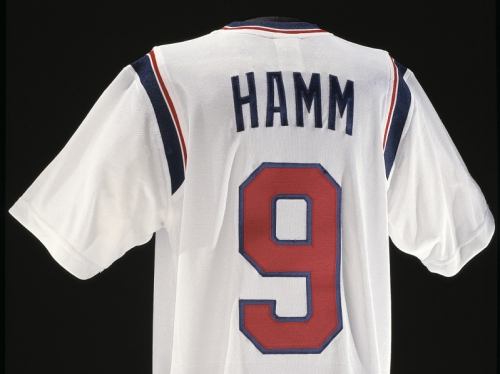 Mia Hamm's jersey number 9.