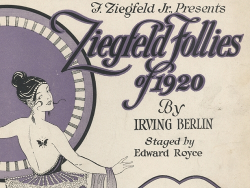 Sheet music for 1920 Ziefeld Follies by Irving Berlin