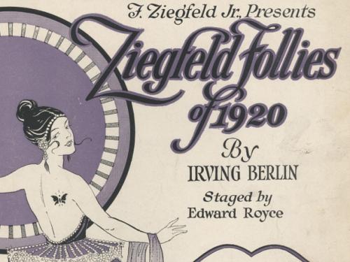 Sheet music for 1920 Ziefeld Follies by Irving Berlin