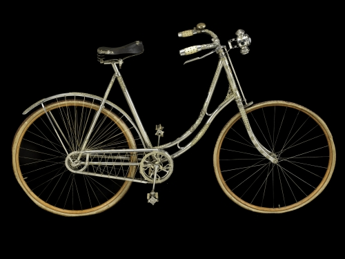 woman's bicycle embellished with jewels