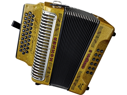 gittering gold accordion