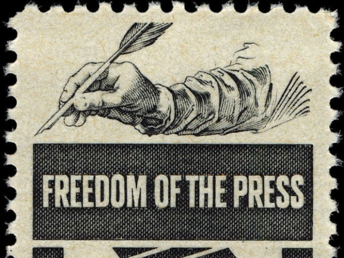 Freedom of the press postage stamp.