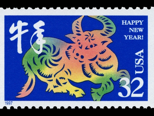 Year of the Ox 32 cent stamp