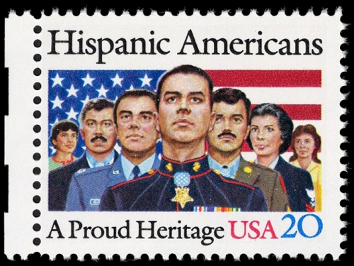 20-cent Hispanic Americans stamp